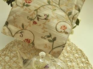 【素布生活】春语。绣花双面餐垫/杯垫/隔热垫。美式乡村地中海,隔热垫,