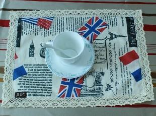 欧美怀旧报纸 餐垫盘垫杯垫多用垫桌垫餐桌垫餐巾30*40CM 国旗,隔热垫,