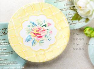 超值特惠 质感牡丹 黄色 杯垫/隔热垫/碗垫 出口陶瓷餐具,隔热垫,