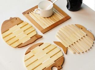 天猫新风尚 自由鱼 木质 杯垫 餐垫 锅垫|盘垫|隔热垫|碗垫 多款,隔热垫,