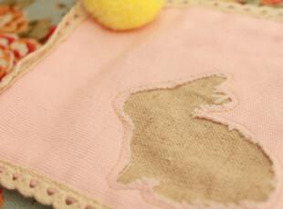 动物园绒球棉麻布艺杯垫 北欧家居风格,隔热垫,