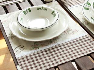 zakka 复古田园 棉麻 双面餐垫 庭院系列,隔热垫,