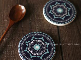 INCAFE |日单陶土杯垫 复古繁花餐垫 杂货 ZAKKA 茶垫(推荐!),隔热垫,