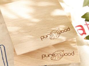 榉木杯垫 方形杯垫 原木隔热垫 原木杯垫 zakka风格 生态环保杯垫,隔热垫,