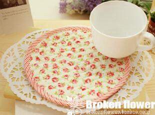 热卖小物!绗缝田园风小玫瑰碎花餐垫花盆垫隔热垫锅垫16.5cm,隔热垫,