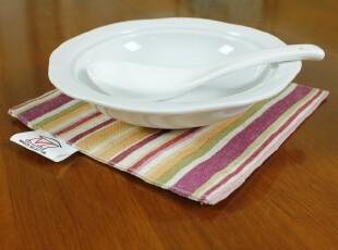 美式田园条纹 杯垫/碗垫/隔热垫餐垫/餐桌垫/桌垫4片装,隔热垫,