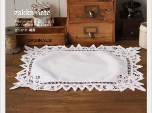 ZAKKA杂货 百带丽勾花桌布 餐垫 方巾 拍摄道具 48*33cm,隔热垫,