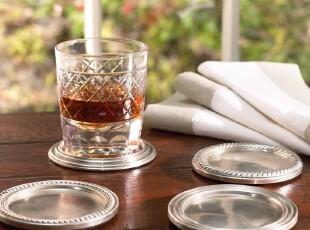美国家居 古典杯垫一套(四种不同样式)现货,隔热垫,