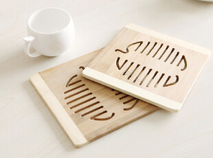 9402 创意家居 竹餐杯垫 隔热垫 餐桌垫 杯垫 碗垫 16*16CM 精品,隔热垫,