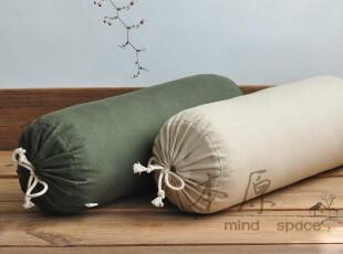 本原/亚麻 糖果枕/办公室靠垫/腰垫 抱枕 圆枕 汽车腰枕 含芯,靠垫,