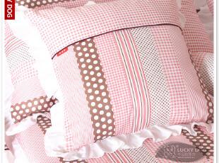 幸运狗 茜茜公主方形靠枕(含芯) 沙发靠垫 床头枕大靠垫 抱枕,靠垫,