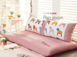 【Asa Room】韩国进口代购坐垫 公主粉色可爱小马懒人沙发 s343-p,靠垫,