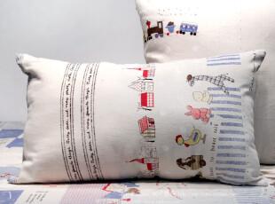 米子家居Zakka日式杂货居家布艺抱枕 全棉卡通人物腰枕30*50cm,靠垫,