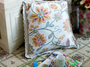 「英伦乡村田园风] 曼荼罗 棉麻手工扎染 抱枕套 抱枕 不含枕芯,靠垫,