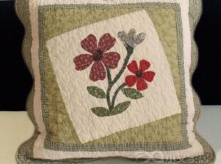 小艾家居 582 田园绗缝 沙发抱枕套 沙发靠垫套 靠枕套 不含芯,靠垫,