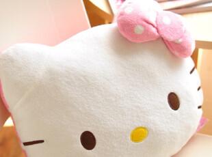 粉嫩波点hello kitty抱枕/靠垫,靠垫,