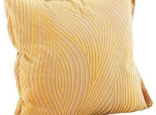【长物志】水纹金色植绒波纹抱枕含芯靠垫,靠垫,