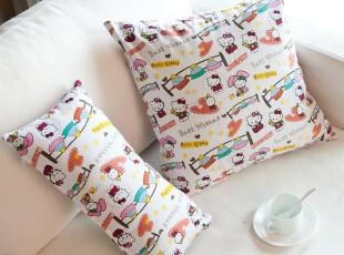 hello kitty 纯棉 帆布 卡通猫 靠垫套 靠枕套 抱枕套 可定做尺寸,靠垫,