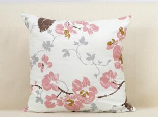 爱蔓达粉色木棉花抱枕靠垫靠枕/可爱时尚布艺靠垫抱枕bz110057r,靠垫,