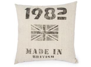 麦克维德 怀旧英伦风格抱枕/靠垫抱枕/可爱布艺抱枕BZ110205,靠垫,