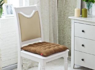 【新品】蔻姿COZZY 时尚家居用品 素色麂皮绒坐垫(咖啡),靠垫,