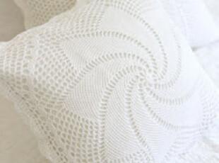 【韩国家居直送】久违的阳光 精致做工棉蕾丝钩花靠垫套,靠垫,