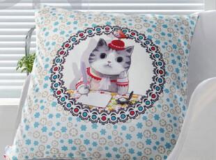 视觉中国锐店 新锐设计师抱枕 见字如面 卡通 猫,靠垫,