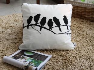 全棉磨毛印花 - 鸟 个性靠垫抱枕坐垫套,靠垫,