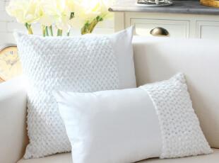 YOYO 沙发靠垫套抱枕套靠枕套靠背垫腰枕腰垫 白色绒毛亮片,靠垫,