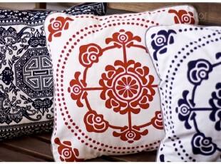 中国传统花朵图案靠垫抱枕套,靠垫,