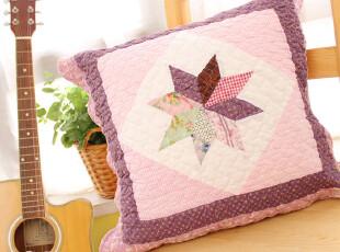 外贸全棉可爱时尚护腰沙发靠垫套抱枕套靠背垫午睡枕靠枕靠垫紫色,靠垫,