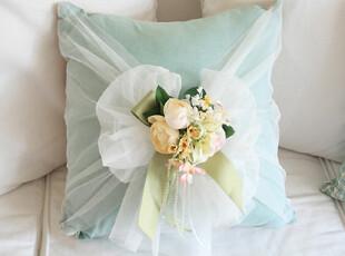 『韩国网站代购』如此幸福的一天 花朵和蕾丝结合靠垫,靠垫,
