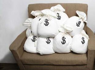 ★公主梦想★韩国家居*美元韩元钱袋*创意造型靠枕靠垫W1757,靠垫,