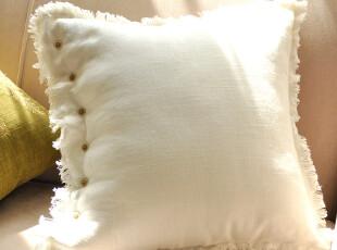 Bentio-美式经典高档棉麻纽扣款靠垫套|独家版权|限量 50*50厘米,靠垫,