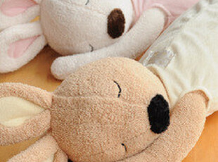 原厂出品 LeSucre酣睡的兔子 抱枕 2色选  0.4KG,靠垫,