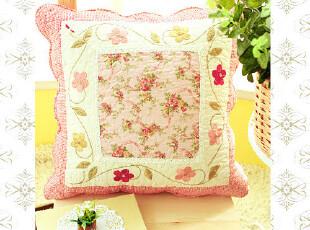 外贸全棉可爱时尚护腰沙发靠垫套抱枕套靠背垫午睡枕靠枕靠垫绣红,靠垫,