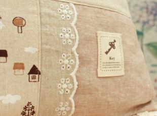拼布棉麻靠垫套 内心的宁静才是永远,靠垫,