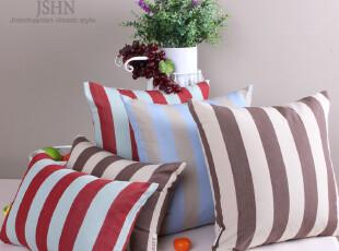瑞条色织条纹 简约田园沙发靠垫靠枕抱枕腰枕靠垫套定制满包邮,靠垫,