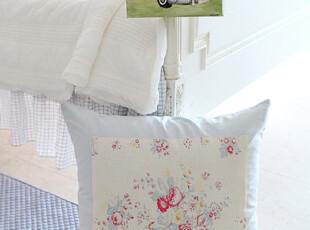 『韩国网站代购』遇见一个晴天 甜美且清爽晴空蓝花朵靠垫,靠垫,
