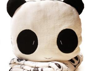 可爱 熊猫 砂糖兔 空调毯 空调被 圆形抱枕套+宝宝毯子 大B,靠垫,