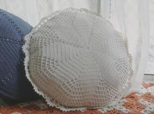 白色手工勾花抱枕 唯美花边 含芯靠垫 家居装饰,靠垫,