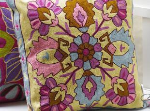 手工刺绣 普罗旺斯夏日 沙发靠垫/抱枕靠枕 送枕芯!【3天发】,靠垫,
