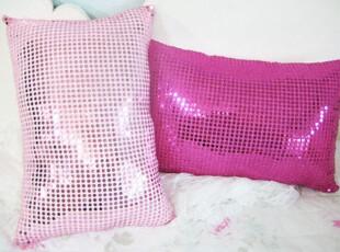 ★公主梦想★韩国家居*Shining*粉色闪亮亮片装饰靠枕 M1606,靠垫,