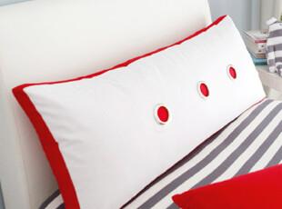 『韩国网站代购』韩式简约惊喜两色拼接床套靠枕,靠垫,