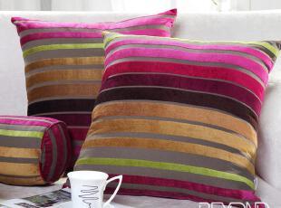 博洋家纺 床上用品 家居用品 调色人生条纹植绒靠芯 单个枕头半价,靠垫,