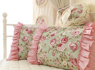 『韩国网站代购』浪漫的田园味道 大面积玫瑰花朵蛋糕边靠垫靠枕,靠垫,