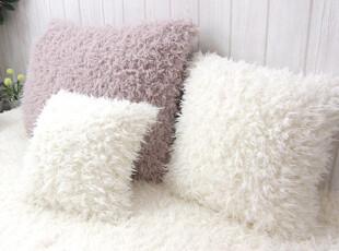 『韩国网站代购』温暖女子性情 淡然朴朴风好品质长毛靠垫,靠垫,
