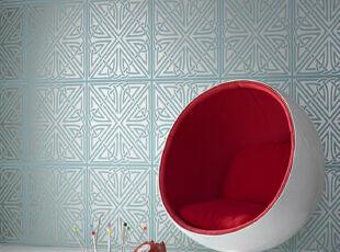 超现实主义家居椅,不繁琐,不复杂,不走寻常路。,现代,简约,红色,白色,墙面,