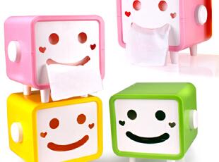 【创意家居】连你的纸巾盒都笑了,你有什么理由不笑一个?,现代主义,纸巾盒,