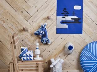 给我一张纸,还你一个白色宫殿。给我一批布,还你一张蓝色地毯...,墙面,现代,蓝色,白色,原木色,